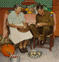 Norman Rockwell (American, 1894-1978) Home for Thanksgiving, Saturday Evening Post cover, November 24