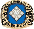 Baseball Collectibles:Others, 1984 Detroit Tigers World Championship Ring from The Al Ka...