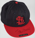 Baseball Collectibles:Uniforms, Stan Musial Signed Game Worn Hat. Offered is a siz...