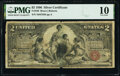 Large Size:Silver Certificates, Fr. 248 $2 1896 Silver Certificate PMG Very Good 10.. ...