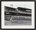 Autographs:Photos, Joe DiMaggio Signed Oversized Photograph. Offered...