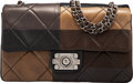 Luxury Accessories:Bags, Chanel Brown, Black, & Gray Lambskin Leather Patchwork Flap Bag with Ruthenium Hardware . Condition: 3