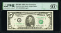 Small Size:Federal Reserve Notes, Fr. 1978-L $5 1985 Federal Reserve Note. PMG Superb Gem Unc 67 EPQ.. ...