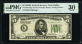 Small Size:Federal Reserve Notes, Fr. 1952-K $5 1928B Federal Reserve Note. PMG Very Fine 30.. ...