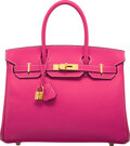 Luxury Accessories:Bags, Hermès Limited Edition 30cm Rose Tyrien Epsom Leather Candy Birkin Bag with Gold Hardware. Q Square, 2013. Condition: ...
