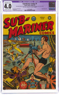 Sub-Mariner Comics #5 Trimmed (Timely, 1942) CGC Apparent VG 4.0 Slight/Mod (B-2) Off-white to white pages