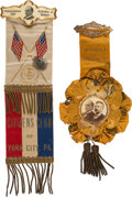 Political:Inaugural (1789-present), William McKinley and Theodore Roosevelt: Two Inauguration Badges.... (Total: 2 Items)