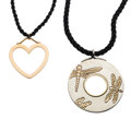 Estate Jewelry:Necklaces, Tiffany & Co. Gold, Silver Pendant-Necklaces. ... (Total: 2 Items)