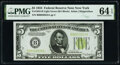 Small Size:Federal Reserve Notes, Fr. 1955-B $5 1934 Federal Reserve Note. PMG Choice Uncirculated 64 EPQ.. ...