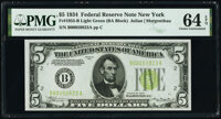 Fr. 1955-B $5 1934 Federal Reserve Note. PMG Choice Uncirculated 64 EPQ