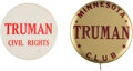 """Political:Pinback Buttons (1896-present), Harry S Truman: Two """"Better"""" Buttons.... (Total: 2 Items)"""