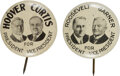 Political:Pinback Buttons (1896-present), Roosevelt & Garner and Hoover & Curtis: Matched Pair of Litho Jugates.... (Total: 2 Items)