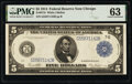 Fr. 871b $5 1914 Federal Reserve Note PMG Choice Uncirculated 63