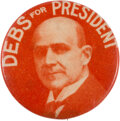 Political:Pinback Buttons (1896-present), Eugene V. Debs: Seldom-Seen Picture Pin....
