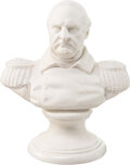 Political:3D & Other Display (pre-1896), Winfield Scott: Unusual Parian Ware Bust....