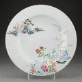 Ceramics & Porcelain, A Chinese Famille Rose Plate 1-1/2 x 12-3/4 inc...
