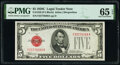 Small Size:Legal Tender Notes, Fr. 1528 $5 1928C Legal Tender Note. PMG Gem Uncirculated 65 EPQ.. ...