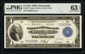 Fr. 734 $1 1918 Federal Reserve Bank Note PMG Choice Uncirculated 63 EPQ