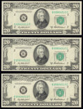 Small Size:Federal Reserve Notes, Fr. 2061-B $20 1950B Federal Reserve Notes. Three Examples. Choice Crisp Uncirculated.. ... (Total: 3 notes)
