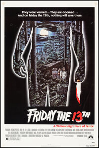 """Friday the 13th (Paramount, 1980). Rolled, Fine/Very Fine. One Sheet (27"""" X 41"""") Alex Ebel Artwork. Horror..."""