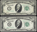 Fr. 2000-G; I $10 1928 Federal Reserve Notes. Very Fine. ... (Total: 2 notes)