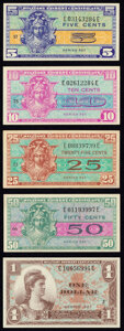 Partial Set of Series 521 Military Payment Certificates 5¢; 10¢; 25¢; 50¢; $1 About New or Better...