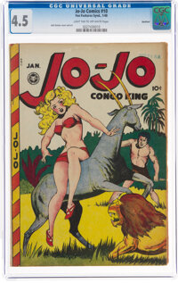 Jo-Jo Comics #10 Rockford Pedigree (Fox Features Syndicate, 1948) CGC VG+ 4.5 Light tan to off-white pages