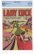 Golden Age (1938-1955):Superhero, Lady Luck 86 (#1) (Quality, 1949) CBCS FN+ 6.5 Off-white to white pages....