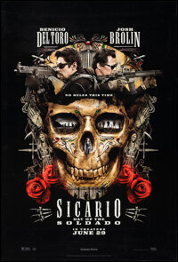 """Sicario: Day of the Soldado (Sony Pictures Releasing, 2018). Rolled, Very Fine+. One Sheet (27"""" X 40"""") DS Adva..."""