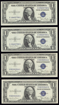 Reverse Changeover Pairs Fr. 1613N/Fr. 1613W $1 1935D Narrow/Wide Silver Certificates. Two Examples. Crisp Uncirculated...