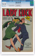 Golden Age (1938-1955):Superhero, Lady Luck #88 (Quality, 1950) CGC FN- 5.5 Cream to off-white pages....