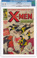 Silver Age (1956-1969):Superhero, X-Men #1 (Marvel, 1963) CGC FN- 5.5 Cream to off-white pages....