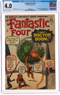 Fantastic Four #5 (Marvel, 1962) CGC VG 4.0 Cream to off-white pages