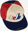 Baseball Collectibles:Hats, Larry Doby Signed & Game Worn Montreal Expos Hat. ...