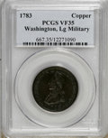 1783 1C Washington & Independence Cent, Large Military Bust VF35 PCGS. . PCGS Population (16/146). NGC Census: (0/0)...