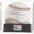 Autographs:Baseballs, Bobby Doerr Single Signed Baseball Mint PSA 9. Here Bobby Doerrmakes mention of the date of his Hall of Fame induction as ...
