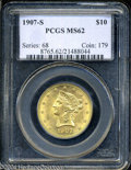 Liberty Eagles: , 1907-S $10 MS62 PCGS. Long an unsung rarity among later ...