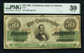 Confederate Notes:1863 Issues, T57 $50 1863 PF-1 Cr. 406 PMG Very Fine 30.. ...