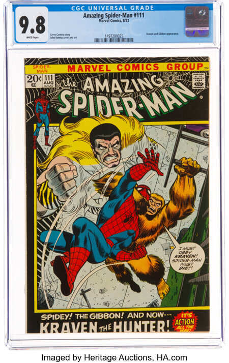 The Amazing Spider-Man #111 (Marvel, 1972) CGC NM/MT 9.8 White pages....