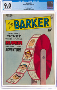 The Barker #3 Mile High Pedigree (Quality, 1947) CGC VF/NM 9.0 Off-white to white pages