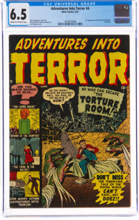 Adventures Into Terror #4 (Atlas, 1951) CGC FN+ 6.5 Cream to off-white pages