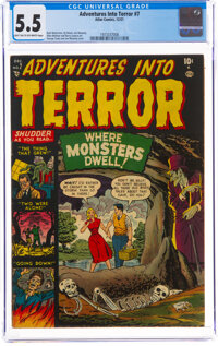 Adventures Into Terror #7 (Atlas, 1951) CGC FN- 5.5 Light tan to off-white pages