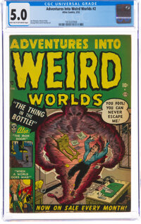 Adventures Into Weird Worlds #2 (Atlas, 1952) CGC VG/FN 5.0 Light tan to off-white pages