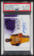 Basketball Cards:Singles (1980-Now), 2012 Panini Intrigue Kobe Bryant Autograph Jersey Relic #24 PSA NM-MT 8, Auto 10 - #'s 26/49....