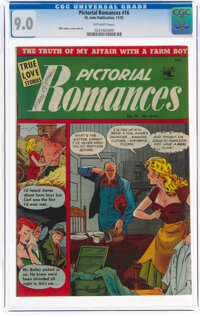 Pictorial Romances #16 (St. John, 1952) CGC VF/NM 9.0 Off-white pages