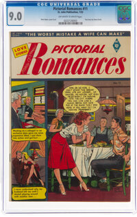Pictorial Romances #11 (St. John, 1952) CGC VF/NM 9.0 Off-white to white pages