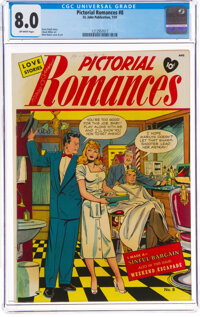 Pictorial Romances #8 (St. John, 1951) CGC VF 8.0 Off-white pages