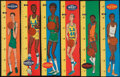 """Basketball Cards:Sets, 1969-70 Topps Basketball """"Rulers"""" Insert Complete Set (23)...."""