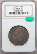 1834 50C Small Date, Small Letters, O-109, R.1, MS63 NGC. CAC. NGC Census: (3/17). PCGS Population: (53/90). CDN: $1,400...