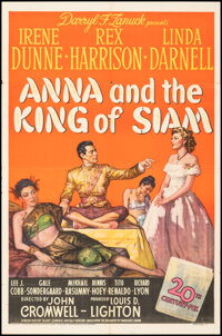 """Anna and the King of Siam (20th Century Fox, 1946). Folded, Fine/Very Fine. One Sheet (27"""" X 41""""), Photo (8&qu..."""